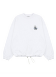 サーティーンマンス(13MONTH) PEACE WAIST STRING SWEAT SHIRT (ホワイト)