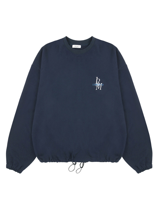サーティーンマンス(13MONTH) PEACE WAIST STRING SWEAT SHIRT (ネイビー)