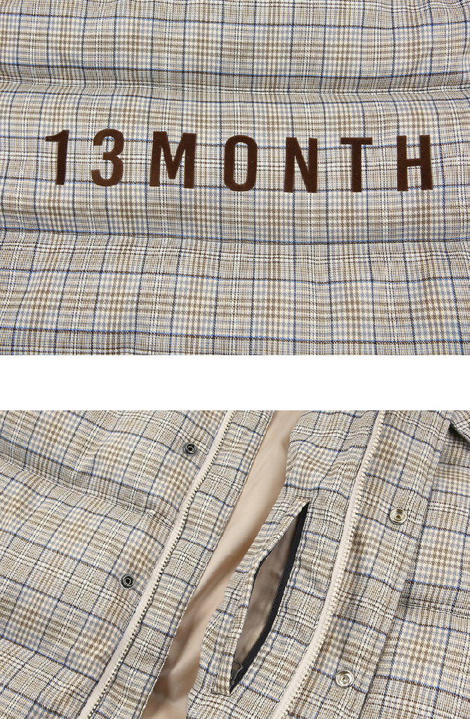 サーティーンマンス(13MONTH) DUCK DOWN HEAVY LONG PADDING (Beige)