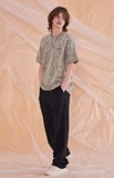 サーティーンマンス(13MONTH) LINEN SET WIDE PANTS (BLACK)