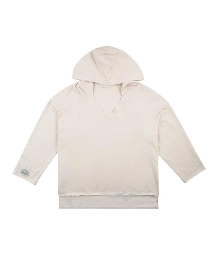 サーティーンマンス(13MONTH) CUTTING V NECK HOOD (IVORY)