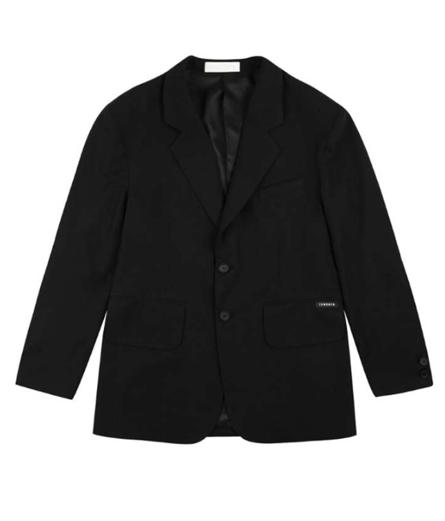 サーティーンマンス(13MONTH) OVER SHOULDER LINEN SET JACKET (BLACK)