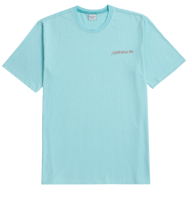 アクメドラビ(acme' de la vie) ADLV HANDWRITING SHORT SLEEVE T-SHIRT SKY BLUE