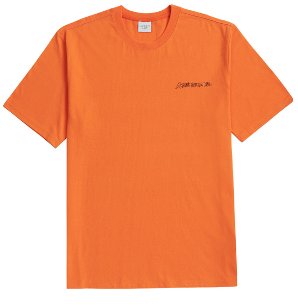 アクメドラビ(acme' de la vie) ADLV HANDWRITING SHORT SLEEVE T-SHIRT ORANGE