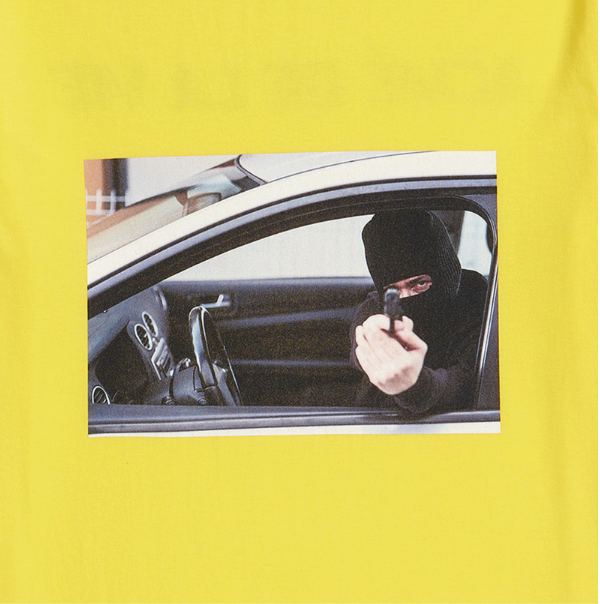 アクメドラビ(acme' de la vie) ADLV SHORT SLEEVE T-SHIRT ROBBER YELLOW