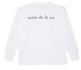 アクメドラビ(acme' de la vie) ADLV BABY FACE LONG SLEEVE HERO T-SHIRT WHITE