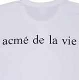 アクメドラビ(acme' de la vie) ADLV BABY FACE LONG SLEEVE RUGBY T-SHIRT WHITE
