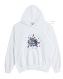 アクメドラビ(acme' de la vie) ADLV DIGITAL PRINTING HOODIE PURPLE PAINT WHITE