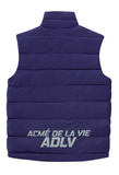 アクメドラビ(acme' de la vie) ADLV REVERSIBLE PADDING VEST PURPLE/GREY