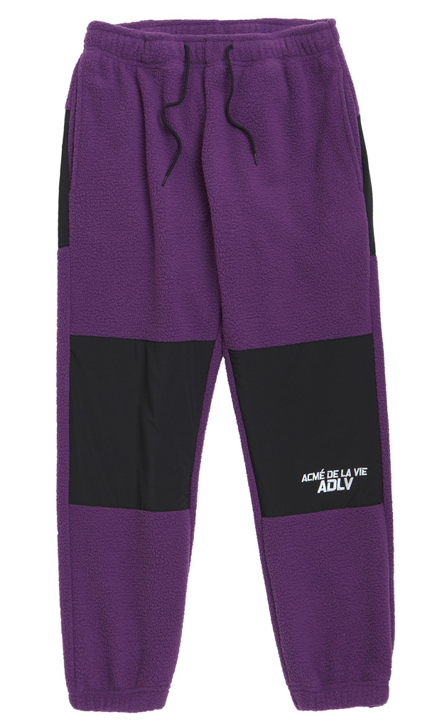 アクメドラビ(acme' de la vie) ADLV Fleece Set up Pants Purple