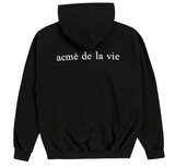 アクメドラビ(acme' de la vie) ADLV BABY FACE HOODIE BLACK WHITE T-SHIRT GIRL (BLACK)