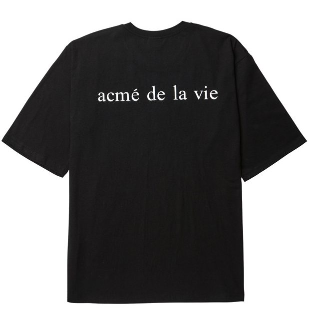 アクメドラビ(acme' de la vie) ADLV BABY FACE SHORT SLEEVE T-SHIRT BLACK MINT BOY