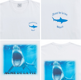 アクメドラビ(acme' de la vie) ADLV DIGITAL PRINTING SHORT SLEEVE T-SHIRT SHARK WHITE