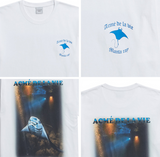 アクメドラビ(acme' de la vie) ADLV DIGITAL PRINTING SHORT SLEEVE T-SHIRT MANTA RAY TWO WHITE