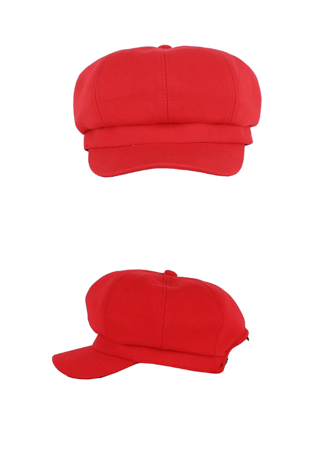 ベーシックコットン(BASIC COTTON) Basic Cap Beret (RED)