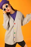 ベーシックコットン(BASIC COTTON) Basic Color Cardigan (グレー)