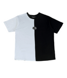 ベーシックコットン(BASIC COTTON) BC two-tone Half Top (WHITE)