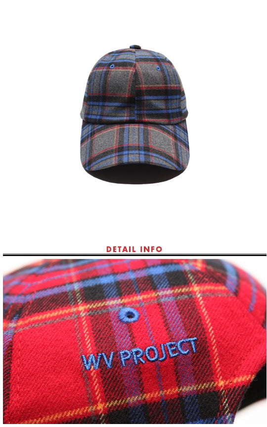 ダブルユーブイプロジェクト(WV PROJECT) DUFF CHECK BALL-CAP RED MJAC7141