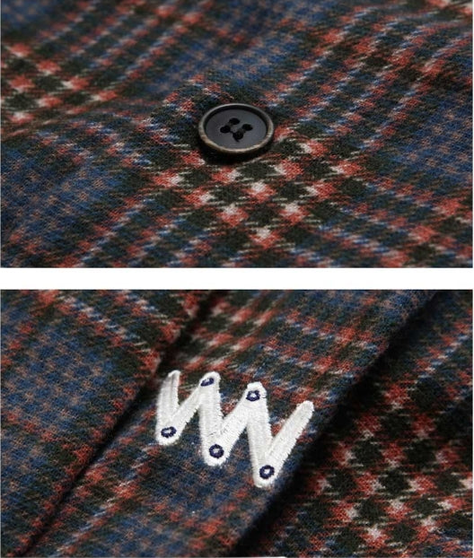 ダブルユーブイプロジェクト(WV PROJECT) DADDYLAY CHECK SHIRT NAVY JJLS7211