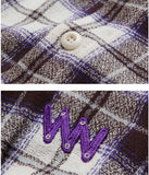 ダブルユーブイプロジェクト(WV PROJECT) TAMI CHECK SHIRT VIOLET MJLS7208