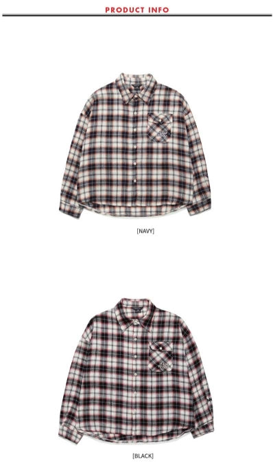ダブルユーブイプロジェクト(WV PROJECT) TAMI CHECK SHIRT BLACK MJLS7208