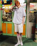 ダブルユーブイプロジェクト(WV PROJECT) CLEVER SLEEVE SHIRT VIOLET JJSS7159