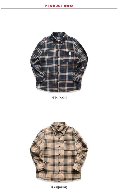 ダブルユーブイプロジェクト(WV PROJECT) BONA CHECK SHIRT BEIGE KHLS7152