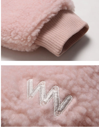 ダブルユーブイプロジェクト(WV PROJECT) TEENI WOOL HOOD ZIPUP PINK MJHD7194