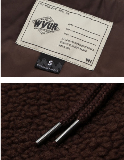 ダブルユーブイプロジェクト(WV PROJECT) TEENI WOOL HOOD ZIPUP CHOCOLATE MJHD7194