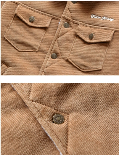 ダブルユーブイプロジェクト(WV PROJECT) CORDUROY TRUCKER JACKET BEIGE KHJK7115