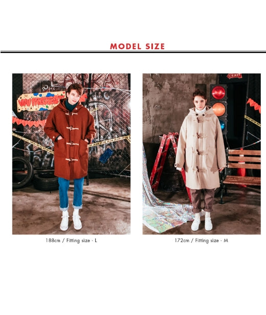 ダブルユーブイプロジェクト(WV PROJECT) OVER SIZE DUFFEL COAT OATMEAL JJOT7123