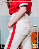 ダブルユーブイプロジェクト(WV PROJECT) ATHLEISURE TRACK PANTS CREAM JJLP7163