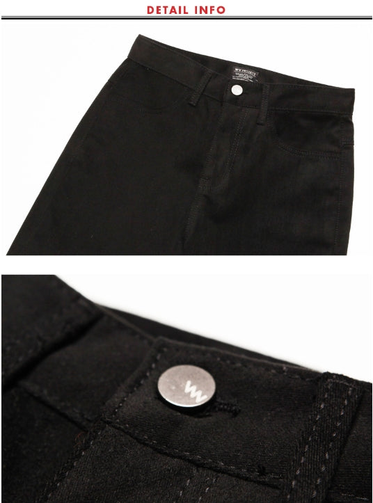 ダブルユーブイプロジェクト(WV PROJECT) LIL COTTON PANTS BLACK MJLP7142