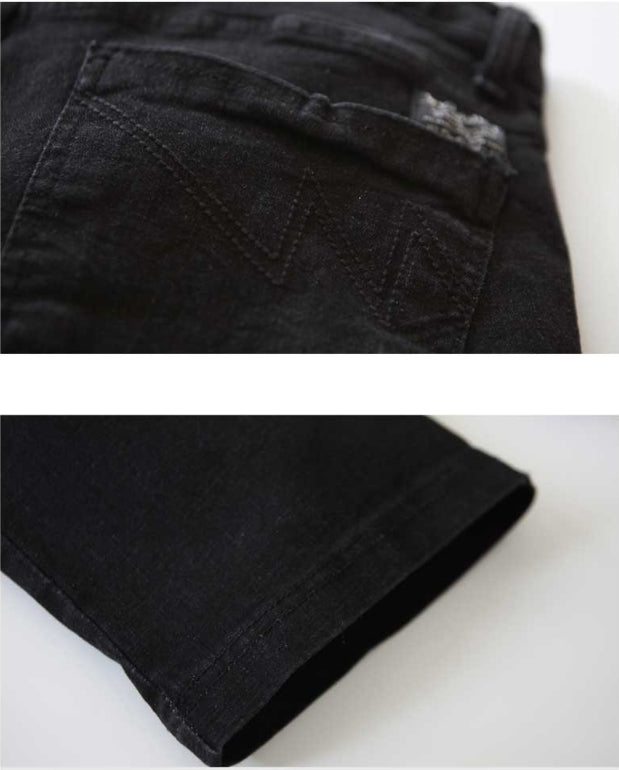 ダブルユーブイプロジェクト(WV PROJECT) NORMAL WASHING DENIM SHORTS BLACK JJSP7024