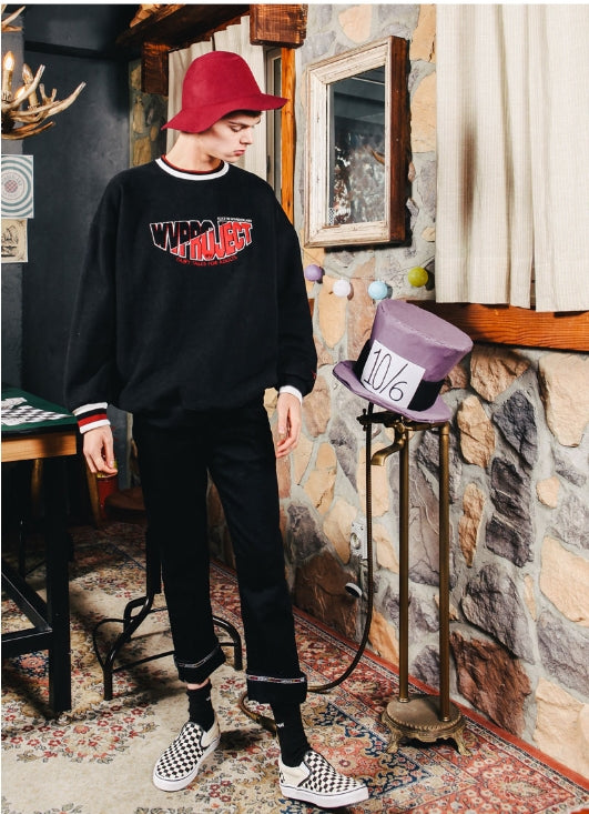 ダブルユーブイプロジェクト(WV PROJECT) CLELO DOUBLE NAPPING SWEATSHIRT BLACK MJMT7133