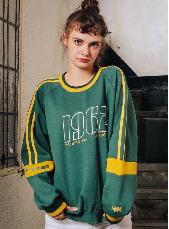 ダブルユーブイプロジェクト(WV PROJECT) KELLY SWEATSHIRT GREEN MJMT7188