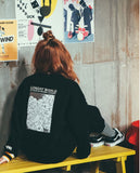ダブルユーブイプロジェクト(WV PROJECT) GONDRY SWEATSHIRT BLACK MJMT7057