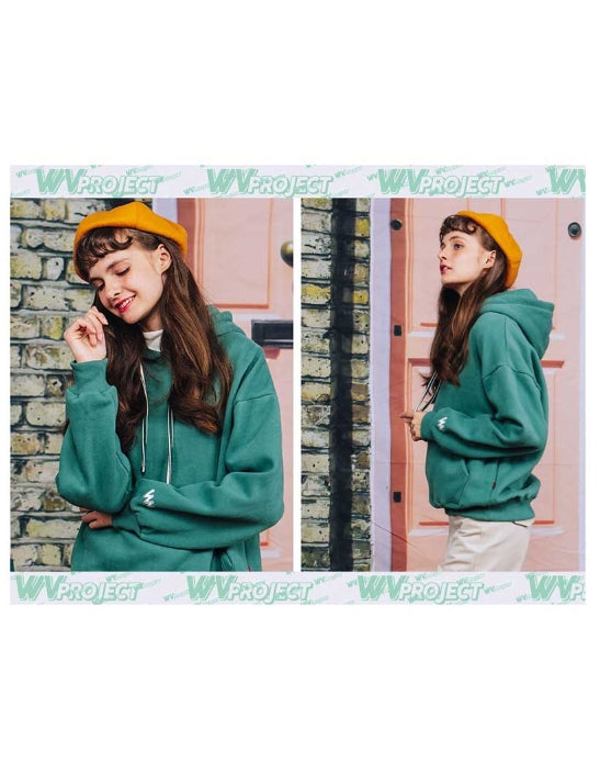 ダブルユーブイプロジェクト(WV PROJECT) SIGNATURE HOODIE GREEN JJHD7190