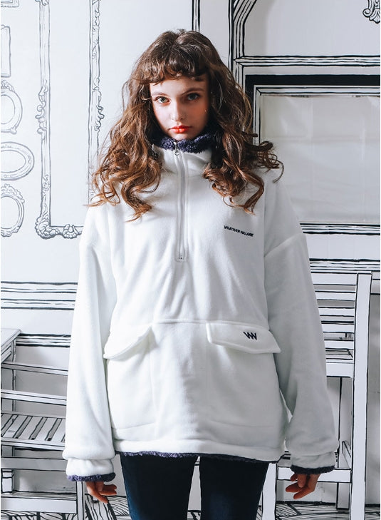 ダブルユーブイプロジェクト(WV PROJECT) VERY REVERSIBLE ANORAK IVORY MJMT7214