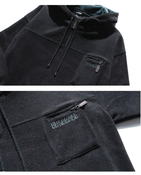 ダブルユーブイプロジェクト(WV PROJECT) ESPER POCKET FLEECE HOODY BLACK JJHD7241