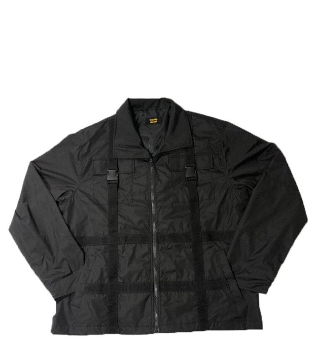 トレンディウビ(Trendywoobi) Strap Windruner Jacket (BLACK)
