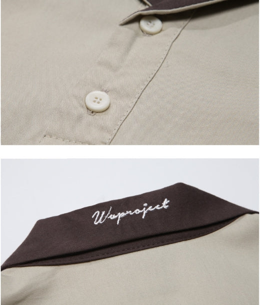 ダブルユーブイプロジェクト(WV PROJECT) Raps Kara half-sleeved tea shirt Beige MJST7254