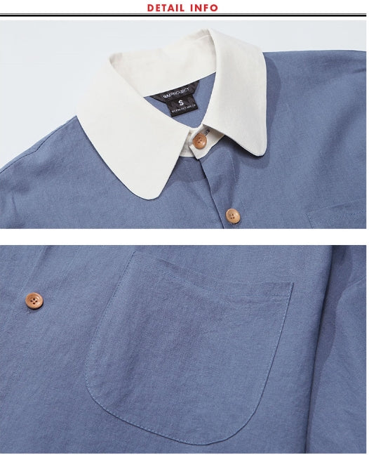ダブルユーブイプロジェクト(WV PROJECT) SHIRRING BIG SHORT SLEEVE SHIRTS NAVY SWSS7278