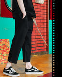 ダブルユーブイプロジェクト(WV PROJECT) BELT BANDING CROP PANTS BLACK JJLP7257
