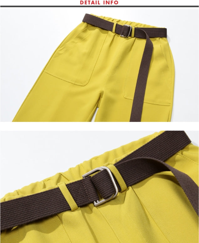 ダブルユーブイプロジェクト(WV PROJECT) BELT BANDING CROP PANTS Olive JJLP7257