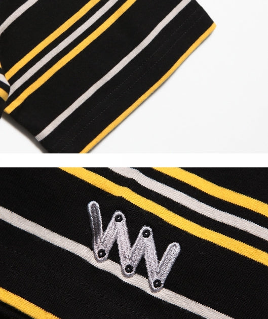 ダブルユーブイプロジェクト(WV PROJECT) DANNIE STRIPE SHORT SLEEVE JJST7172