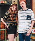 ダブルユーブイプロジェクト(WV PROJECT) DANNIE STRIPE SHORT SLEEVE 1+1 JJST7172