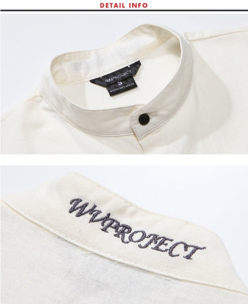 ダブルユーブイプロジェクト(WV PROJECT) NAME HENLEYNECK SHORT SHIRTS SWSS7276