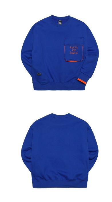 ティーダヴリューエヌ(TWN) BULKY POCKET SWEATSHIRTS STMT3154