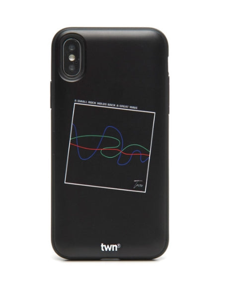 ティーダブリューエヌ(TWN) WAVE FRAME PHONE CASE (BLACK)